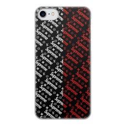 """Чехол для iPhone 7, объёмная печать """"Supreme"""" - узор, надписи, бренд, supreme, суприм"""