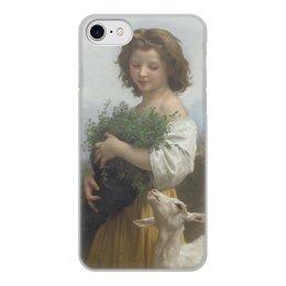 """Чехол для iPhone 7, объёмная печать """"Юная Эсмеральда (картина Вильяма Бугро)"""" - картина, академизм, живопись, бугро, крестьянка"""