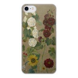 """Чехол для iPhone 7, объёмная печать """"Цветы (картина Эжена Делакруа)"""" - цветы, картина, живопись, делакруа, романтизм"""
