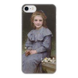 "Чехол для iPhone 7, объёмная печать ""Маргаритки (картина Вильяма Бугро)"" - цветы, картина, академизм, живопись, бугро"