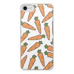 """Чехол для iPhone 7, объёмная печать """"Морковки"""" - лето, веган, здоровье, морковь, овощи"""