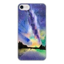"""Чехол для iPhone 7, объёмная печать """"Природа"""" - звезды, небо, краски, природа, пейзаж"""