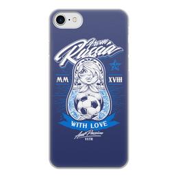 """Чехол для iPhone 7, объёмная печать """"Футбол"""" - футбол, спорт, матрёшка"""
