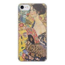 """Чехол для iPhone 7, объёмная печать """"Дама с веером (Густав Климт)"""" - картина, климт"""