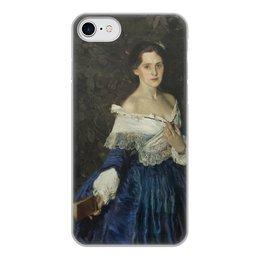 """Чехол для iPhone 7, объёмная печать """"Дама в голубом (картина Сомова)"""" - картина, портрет, живопись, модерн, сомов"""