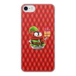 """Чехол для iPhone 7, объёмная печать """"пингвин"""" - новый год, зима, птицы, подарки, пингвин"""