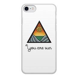 "Чехол для iPhone 7, объёмная печать ""You are sun"" - солнце, море, sun, sea, mountain"