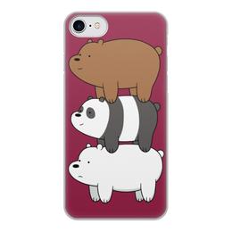 """Чехол для iPhone 7, объёмная печать """"Мы обычные медведи, we bare bears"""" - медведи, bears, we bare bears, мы обычные медведи"""