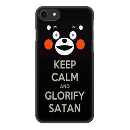"""Чехол для iPhone 7, объёмная печать """"Keep calm Кумамон"""" - keep calm, сохраняй спокойствие, кумамон, kumamon"""