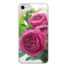"""Чехол для iPhone 7, объёмная печать """"Розовые розы"""" - праздник, цветы, весна, розовый, розы"""
