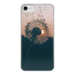 """Чехол для iPhone 7, объёмная печать """"Одуванчик"""" - цветы, одуванчик"""