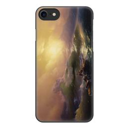 """Чехол для iPhone 7, объёмная печать """"Девятый вал (картина Айвазовского)"""" - картина, живопись, айвазовский"""
