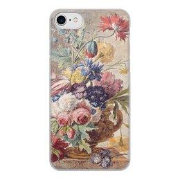 "Чехол для iPhone 7, объёмная печать ""Цветочный натюрморт (Ян ван Хёйсум)"" - цветы, картина, живопись, натюрморт, ян ван хёйсум"