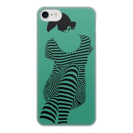 """Чехол для iPhone 7, объёмная печать """"""""Раздвоение личности"""""""" - настроение, оригинальный, хеллоуин, стройность, раздвоение личности"""