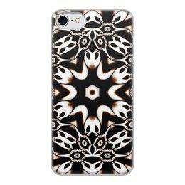 """Чехол для iPhone 7, объёмная печать """"Кофейный"""" - подарок, абстракция, фрактал, digital art, спектр"""