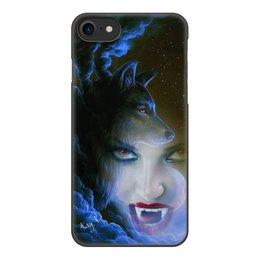 """Чехол для iPhone 7, объёмная печать """"Вампиры и Волки"""" - фентези, волк, телефон, чехлы, оборотни"""
