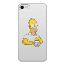 """Чехол для iPhone 7, объёмная печать """"Гомер"""" - гомер, homer, гомер симпсон, homer simpson"""
