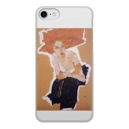 """Чехол для iPhone 7, объёмная печать """"рыжая девушка"""" - девушка, оранжевый, рисунок"""