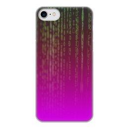 "Чехол для iPhone 7, объёмная печать ""Матрица"" - компьютеры, матрица, код, программа, пароль"