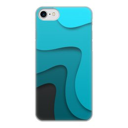 """Чехол для iPhone 7, объёмная печать """"Волнистый"""" - волнистый, стиль, узор, абстракция, абстрактный"""