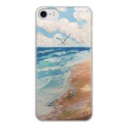 """Чехол для iPhone 7, объёмная печать """"Чайки"""" - чайка, чехол, рисункимарии, mariagolub-art"""