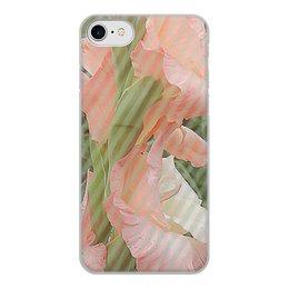 """Чехол для iPhone 7, объёмная печать """"Нежная фантазия."""" - цветы, цветок, гладиолус, гладиолусы, розовый гладиолус"""