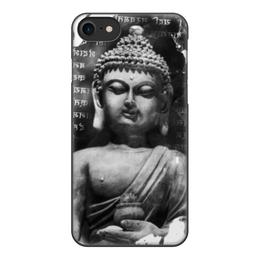 """Чехол для iPhone 7, объёмная печать """"Будда (Письмена)"""" - философия, buddha, будда, буддизм, духовность"""