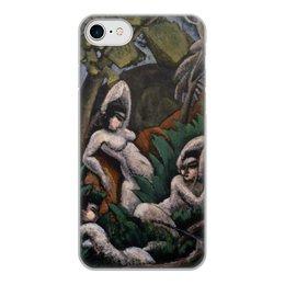 """Чехол для iPhone 7, объёмная печать """"Лето (картина Макса Вебера)"""" - картина, живопись, кубизм, модерн, вебер"""