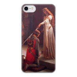 "Чехол для iPhone 7, объёмная печать ""Акколада (Эдмунд Лейтон)"" - картина, живопись, рыцари, прерафаэлиты, лейтон"
