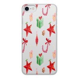 """Чехол для iPhone 7, объёмная печать """"новый год"""" - конфеты, новый год, подарки, рождество, christmas"""
