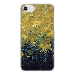 """Чехол для iPhone 7, объёмная печать """"Abstract"""" - картина, разводы, абстракция, живопись, флюид"""