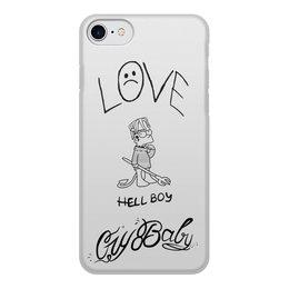 """Чехол для iPhone 7, объёмная печать """"LiL PEEP ТАТУ"""" - rap, lil, peep, lil peep, лил пиип"""