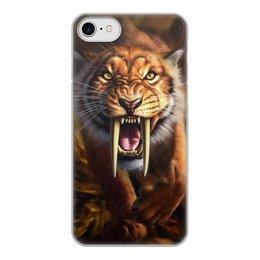 """Чехол для iPhone 7, объёмная печать """"ТИГРЫ ФЭНТЕЗИ"""" - хищник, животные, саблезубый тигр, стиль эксклюзив креатив красота яркость, арт фэнтези"""