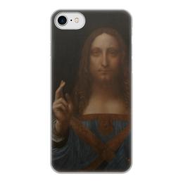 """Чехол для iPhone 7, объёмная печать """"Спаситель мира Леонардо да Винчи """" - арт, картина, живопись, леонардо да винчи, спаситель мира"""