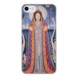 """Чехол для iPhone 7, объёмная печать """"Дева (картина Джозефа Стеллы)"""" - картина, живопись, футуризм, абстракционизм, стелла"""