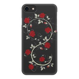 """Чехол для iPhone 7, объёмная печать """"Красные розы"""" - цветы, розы"""