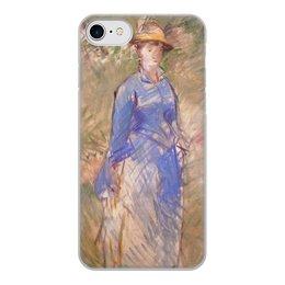 """Чехол для iPhone 7, объёмная печать """"Молодая девушка в саду (Эдуард Мане)"""" - мане, живопись, картина"""