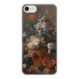 "Чехол для iPhone 7, объёмная печать ""Ваза с цветами (Ян ван Хёйсум)"" - цветы, картина, живопись, натюрморт, ян ван хёйсум"