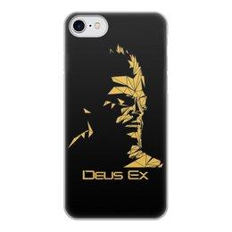 """Чехол для iPhone 7, объёмная печать """"Deus Ex"""" - адам дженсен, deus ex, human revolution, дженсен, шариф"""