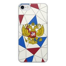 """Чехол для iPhone 7, объёмная печать """"Без названия"""" - русский, россия, герб, орел, флаг"""