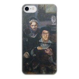 """Чехол для iPhone 7, объёмная печать """"Гамлет и Офелия (картина Михаила Врубеля)"""" - картина, живопись, шекспир, литература, врубель"""