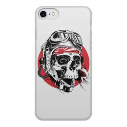 """Чехол для iPhone 7, объёмная печать """"Камикадзе"""" - skull, череп, камикадзе, смертник, kamikaze"""