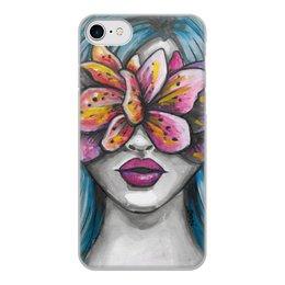 """Чехол для iPhone 7, объёмная печать """"Весна"""" - праздник, девушка, цветы, 8 марта, весна"""