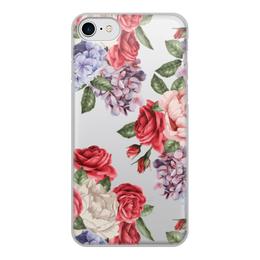 """Чехол для iPhone 7, объёмная печать """"цветы"""" - цветы"""