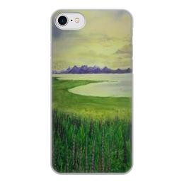 """Чехол для iPhone 7, объёмная печать """"Прованс"""" - цветы, франция, луга, лаванда, прованс"""