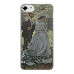 """Чехол для iPhone 7, объёмная печать """"Базиль и Камилла (картина Клода Моне)"""" - любовь, картина, импрессионизм, живопись, моне"""