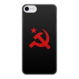 """Чехол для iPhone 7, объёмная печать """"Советский Союз"""" - ссср, русский, россия, советский союз, серп и молот"""