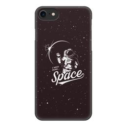 """Чехол для iPhone 7, объёмная печать """"I need more space"""" - space, звезды, космос"""