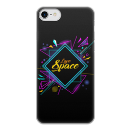 """Чехол для iPhone 7, объёмная печать """"Love Space"""" - звезды, космос, вселенная"""