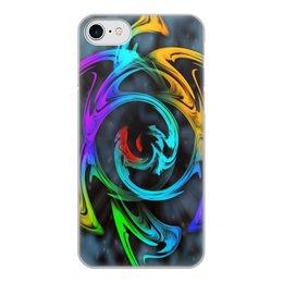 """Чехол для iPhone 7, объёмная печать """"Узор красок"""" - цветы, космос, пятна, краски, абстракция"""